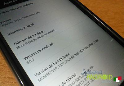 Moto G 2014 está recibiendo Lollipop en México