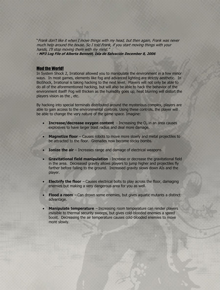 Foto de 'BioShock', documentos originales (8/9)