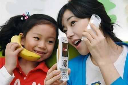 LG SV80, otro móvil banana
