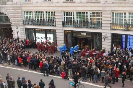 Hunter Regent Street Opening Aerial