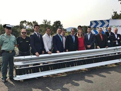 Segurvital, el quitamiedos salvavidas para moteros y ciclistas ya está instalado en La Rioja