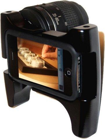 iPhone 4 también podrá usar objetivos fotográficos de cámaras réflex
