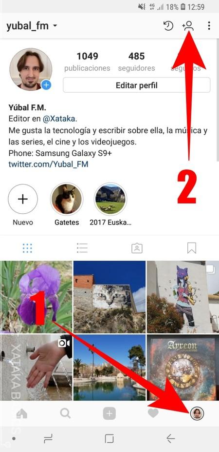 Instagram Agregar Contactos