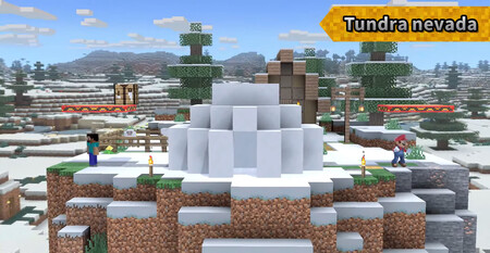 Super Smash Bros Ultimate Escenario Minecraft 05