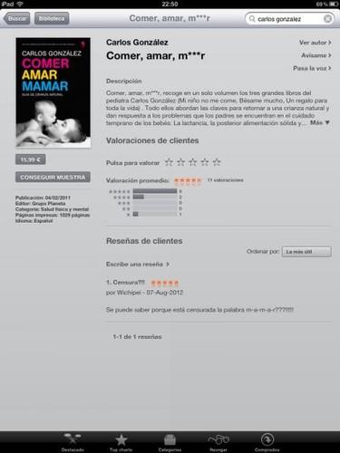 "iTunes censura la palabra ""mamar"""