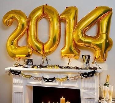 Decorando la mesa para Fin de Año. Adiós 2013, bienvenido 2014