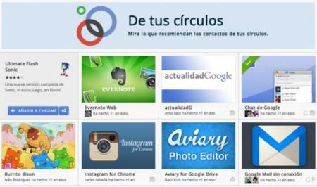 Chrome Store estrena nueva sección para ofrecer recomendaciones de nuestros círculos en Google Plus