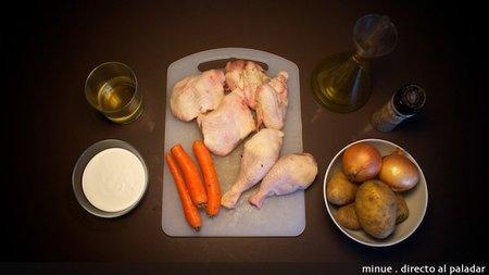 Pollo a la crema - ingredientes
