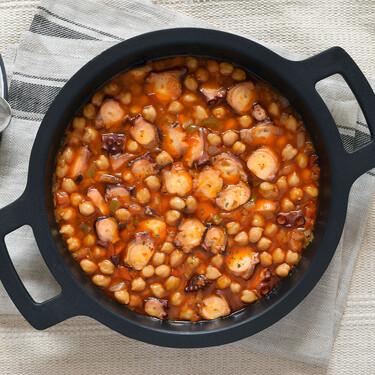 Garbanzos guisados con pulpo: receta fácil de cuchareo para comer bien y dar la bienvenida al frío