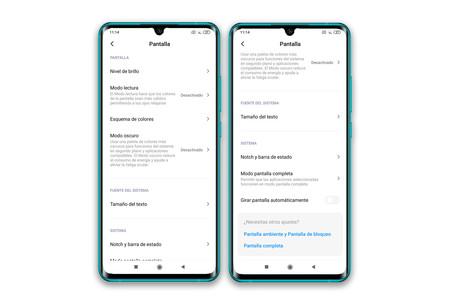 Xiaomi Mi Note 10 Ajustes Pantalla
