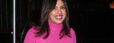 Priyanka Chopra nos muestra cómo lucir varias tonalidades de rosa creando un look perfecto para este otoño