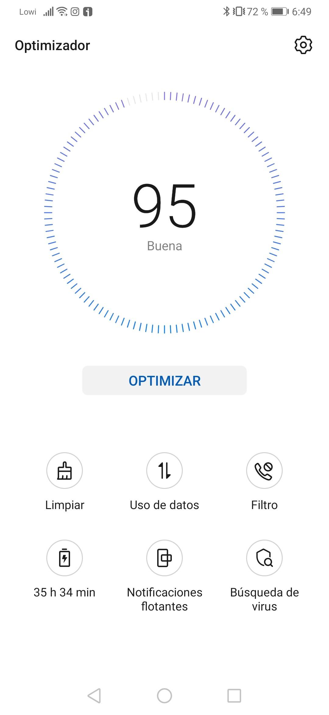 Huawei P30 interfaz