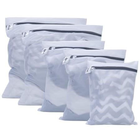Cupón de descuento del 50% en el set de cinco bolsas de lavandería con cremallera Kealive: se quedan en 3,99 euros en Amazon