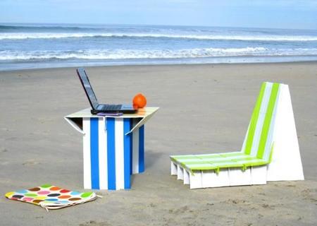 Hazlo tú mismo: muebles de exterior con cajas de cartón recicladas