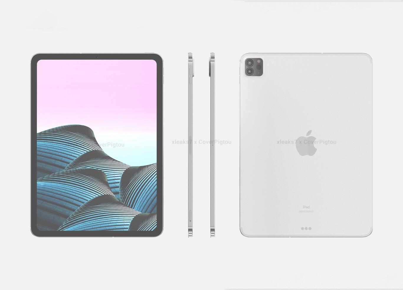 El iPad Pro (2021) se filtra en renders con un diseño casi calcado al modelo actual, según David Kowalski