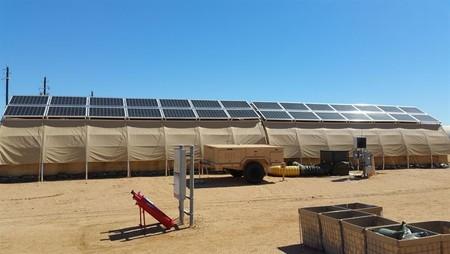 Esta planta solar es portátil y puede montarse en cualquier lugar en sólo una hora