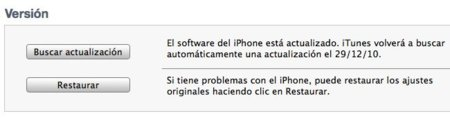 iTunes restaurar