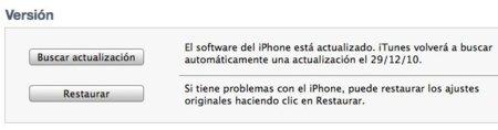 iTunes restaurar