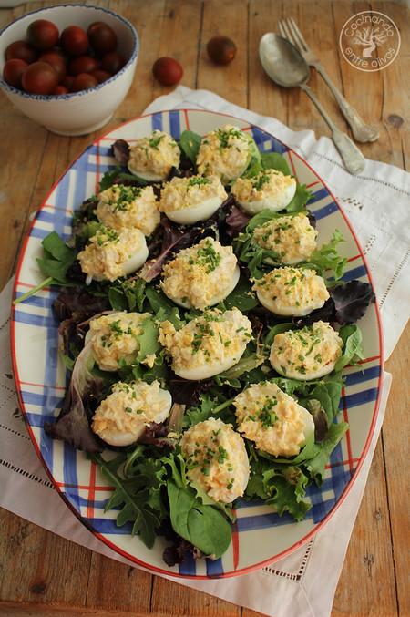 Huevos Rellenos De Pollo Www Cocinandoentreolivos Com 12 1
