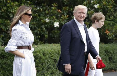 Melania Trump decide bajarse de los tacones para disfrutar de un fin de semana de relax en Camp David