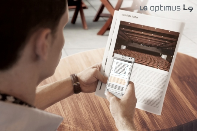 LG Optimus L9 en mano