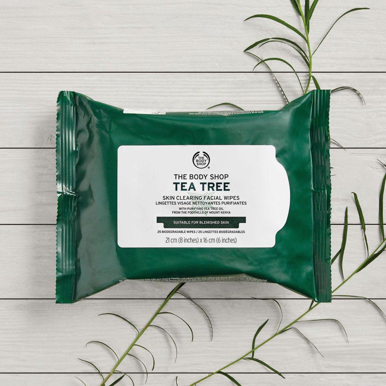 Toallitas desmaquillantes con árbol de té biodegradables