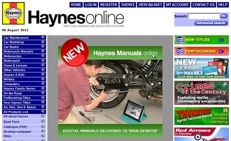 Manuales Haynes disponibles online para los más manitas