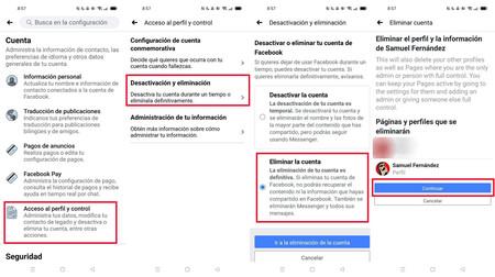 Cómo borrar tu cuenta de Facebook desde el móvil