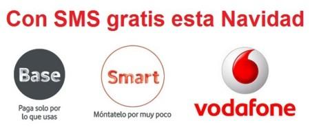 Vodafone incluirá SMS gratis en sus tarifas Base y Smart durante la Navidad