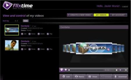 Flixtime, la forma más rápida de crear vídeos online con tus fotografías