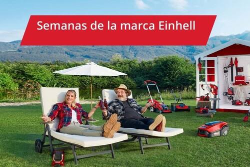 Ofertas en bricolaje y jardín de Einhell en Amazon, con descuentos del 40% y baterías gratis por la compra de dos herramientas