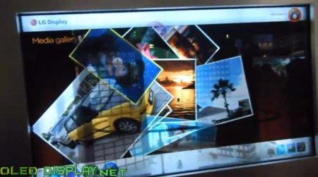 LG envida a Samsung y presenta su propio monitor transparente multitáctil