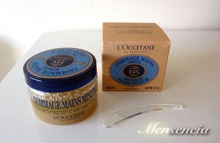 Gommage para las manos de L'Occitane, exfoliar las manos en un minuto