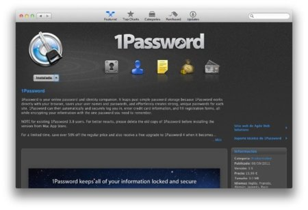 1Password se pasa a la Mac App Store