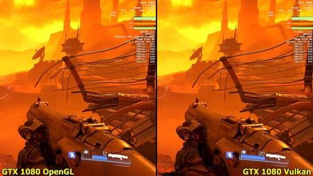 Comparativa de rendimiento entre OpenGL y Vulkan en escritorio