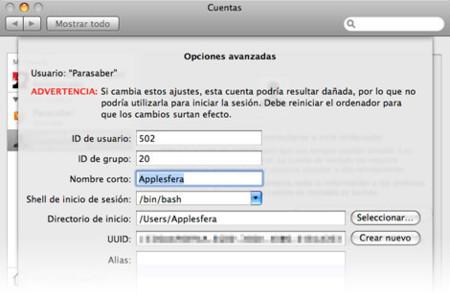 Truco: Cambia el nombre corto de un usuario en Leopard