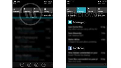 Más detalles del Action Center de Windows Phone 8.1 y sus notificaciones en una nueva filtración