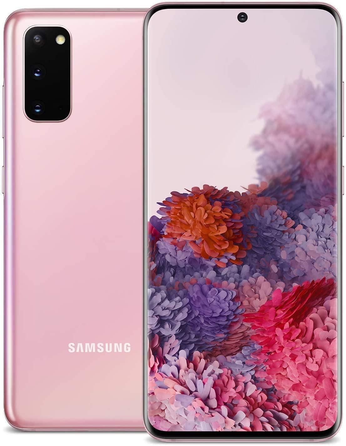 Samsung Galaxy S20 5G, 128GB, Cloud Pink - Totalmente desbloqueado (Renewed)