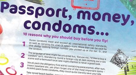 Diez razones para meter preservativos en el equipaje