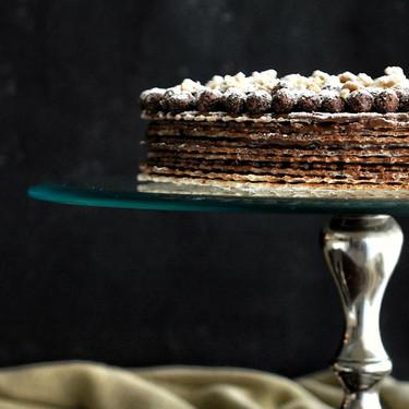 Receta de tarta de obleas y chocolate: la más fácil del mundo