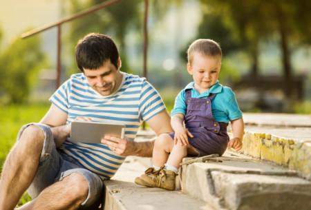 ¿Cuánto tiempo pasas con el teléfono y sin tus hijos?