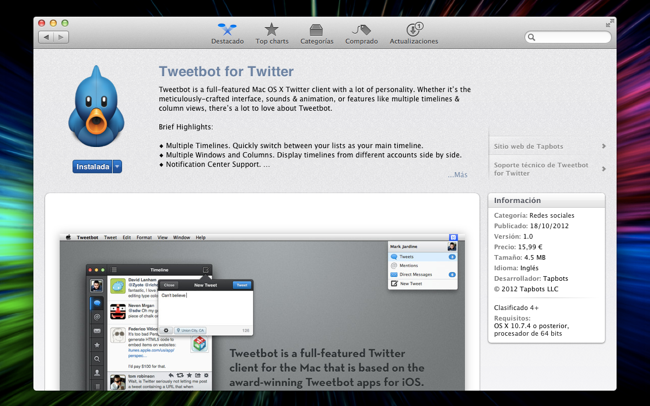 Tweetbot en la App Store