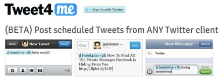 Tweet4me, una aplicación para programar lo que tuiteamos