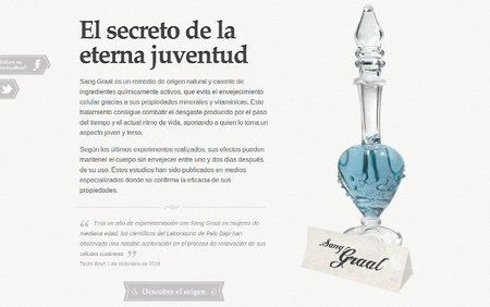 El secreto de la eterna juventud, montaje web para promocionar tu negocio
