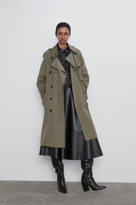 Trench color caza