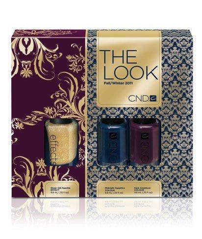 CND The Look Otoño/Invierno 2011-2012 y una manicura sofisticada con medias lunas en dorado