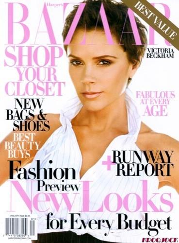 Victoria Beckham en la portada de enero de Harper's Bazaar USA