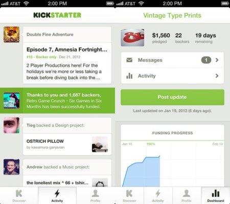 Kickstarter iOS
