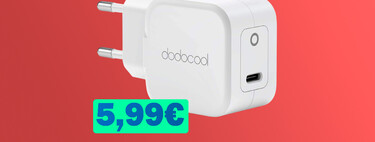 Recarga tu iPhone, iPad o AirPods rápidamente con el cargador de 20W USB-C de Dodocool a mitad de precio: 5,99 euros, su mínimo