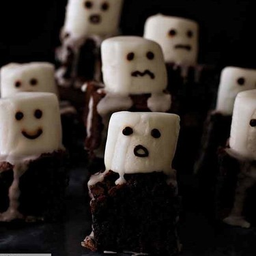 Brownies fantasmales, receta de Halloween